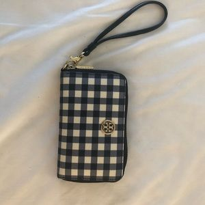 Tory Burch Robinson Smartphone Wallet Gingham